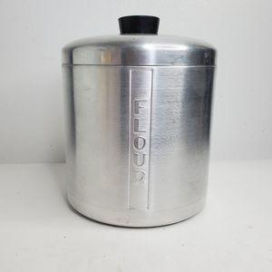 Vintage 1950s kitchen canister flour